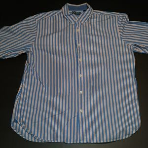 Chaps long sleeve button down shirt mens XL